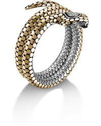 John Hardy Dot Double Coil Cobra Head Bracelet - Lyst