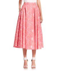 ABS By Allen Schwartz - Floral-print Skirt - Lyst