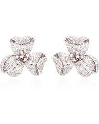 Helen Yarmak International - One Of A Kind Diamond Flower Earrings - Lyst