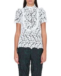 Erdem Floral Embroidered Top White - Lyst