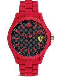 Scuderia Ferrari - Pit Crew Red  Black Watch 461mm - Lyst
