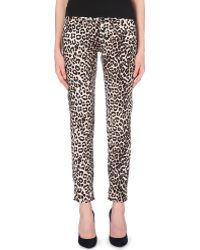 Rag & Bone Leopard-print Boyfriend Mid-rise Jeans - Lyst