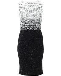Oscar de la Renta Sequin Pencil Dress - Lyst