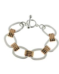Indulgence Jewellery - Twotone Chain Bracelet With T-bar - Lyst