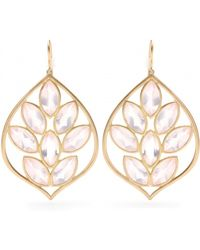 Jamie Wolf - 18Kt Yellow Gold Acorn Earrings With Marquis- Rose Quartz - Lyst