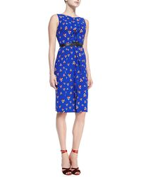 Carolina Herrera Sleeveless Diamondprint Dress - Lyst