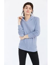 Truly Madly Deeply - Elbow Patch Hoodie Sweatshirt - Lyst