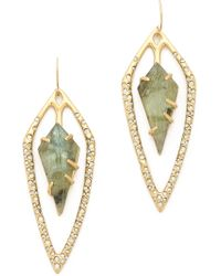 Alexis Bittar Encrusted Diamond Tear Earrings Gold - Lyst