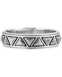 House Of Harlow Triangle Plateau Midi Ring Silver - Lyst