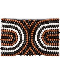 Nanette Lepore - Wooden Beaded Clutch - Lyst