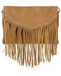 Topshop Leather Tassel Crossbody Bag - Lyst