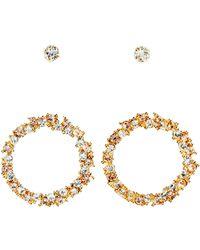 H&M 2 Pairs Crystal Earrings - Lyst