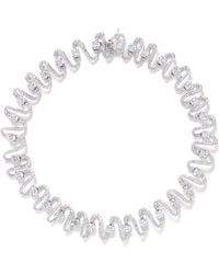 Cz By Kenneth Jay Lane Wave Cubic Zirconia Pavé Necklace - Lyst
