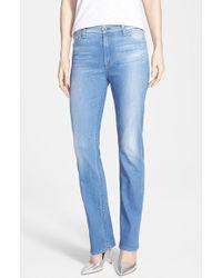 Jen7 Slim Straight Leg Jeans - Lyst