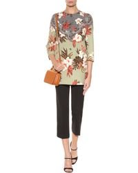 Etro Crepe Trousers - Lyst