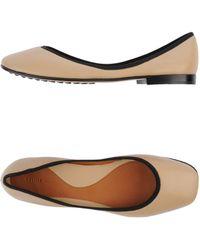 Celine Beige Ballet Flats - Lyst
