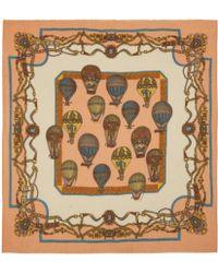 Manipuri - Pink Hot Air Balloon Print Woolblend Scarf - Lyst