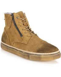 DIESEL | Lace-Up Suede Boots | Lyst