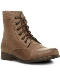 Steve Madden Tuundra Lace Up Boots Stoneleather - Lyst