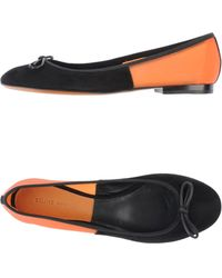Celine Black Ballet Flats - Lyst