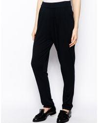 Asos Peg Trousers In Jersey - Lyst