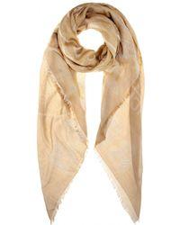 Balenciaga Brown Cotton Scarf - Lyst