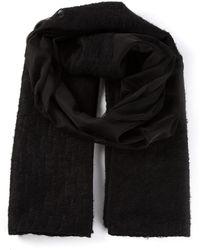 Emporio Armani Knit Scarf - Lyst