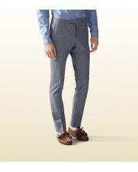 Gucci Stretch Seersucker Sharp Pant - Lyst