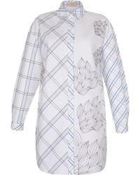 Ruban - Mixed Print Shirt Dress - Lyst
