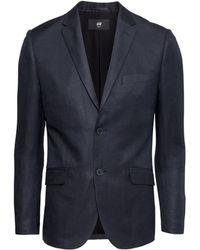 H&M Jacket In A Linen Blend blue - Lyst