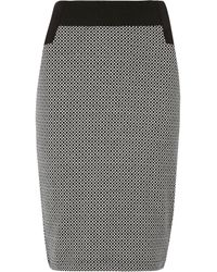 Dorothy Perkins - Grid Contrast Pencil Skirt - Lyst