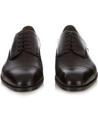 Ermenegildo Zegna - Lace-up Leather Derby Shoes - Lyst