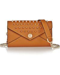 Rebecca Minkoff Mini Studded Textured-leather Shoulder Bag - Lyst