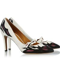 Isabel Marant Kurt Leather Detailed Suede Pumps - Lyst