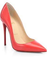 Christian Louboutin So Kate Patent Leather Point-toe Pumps - Lyst