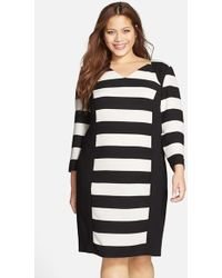 Carmakoma - 'auburn' Stripe Colorblock Dress - Lyst