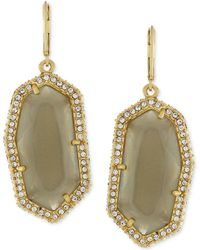 Vince Camuto - Gold-plated Grey Stone Pave Drop Earrings - Lyst