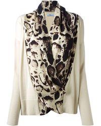 Blumarine Printed Silk Insert Top - Lyst