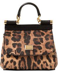 Dolce & Gabbana Mini Sicily Leather Shoulder Bag - Lyst