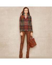 Ralph Lauren Blue Label | Plaid Tweed Jacket | Lyst