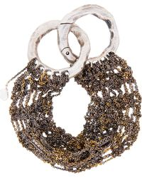 Arielle De Pinto | Gold Wide Lattice Bracelet | Lyst