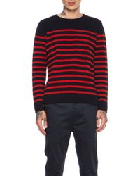 A.P.C. Striped Pullover Wool Sweater - Lyst