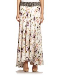 Haute Hippie Embellished Silk Maxi Skirt - Lyst