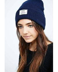 Reason - Basic Beanie in Navy - Lyst