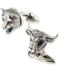 Stephen Webster - Bull and Bear Cuff Links - Lyst