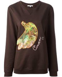 Carven - Banana Embroidered Sweatshirt - Lyst