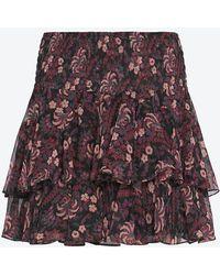 Twelfth Street Cynthia Vincent - Exclusive Printed Ruffle Mini Skirt - Lyst
