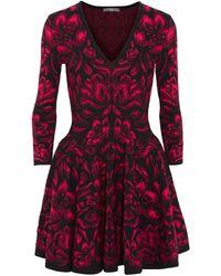 Alexander McQueen Tulipjacquard Mini Dress - Lyst
