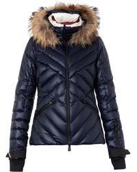 Moncler Grenoble Makalu Fur-Trimmed Quilted Down Jacket - Lyst