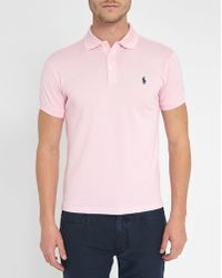 Polo Ralph Lauren | Pink Carmel Slim-fit Stretch Polo Shirt | Lyst